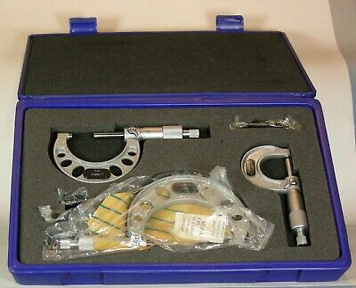 3 Pc. Outside Micrometer Set 0 To 3 Inches With Case