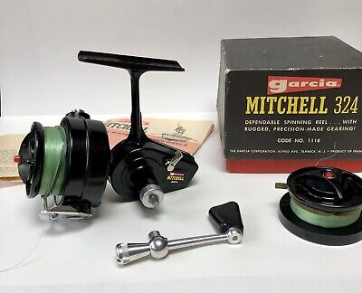 Vintage Garcia Mitchell Fishing Reel 324 Boxed Mint