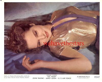 Vintage Janet Leigh SEXY GORGEOUS '57 JET PILOT Color Publicity Portrait