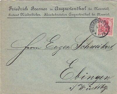 AUGUSTENTHAL, Briefumschlag 1905, Friedrich Boesner