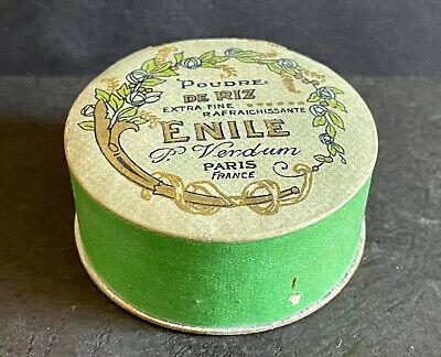 Vintage 'POUDRE DE RIZ' Paris, ENILE P. Verdum Cardboard Face Powder Box Full