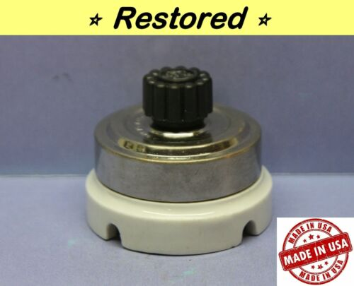 ⚡ Vintage Rotary Round Light Switch, 4-Way, Porcelain/Chrome, Arrow, USA, RARE