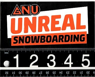 686 SNOWBOARDING STICKER Six Eight 175 In Square Red Snowboarding Decal