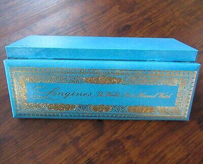 Vintage Longines Wittnauer Presentation Long Watch Box Gold Medallion Booklet