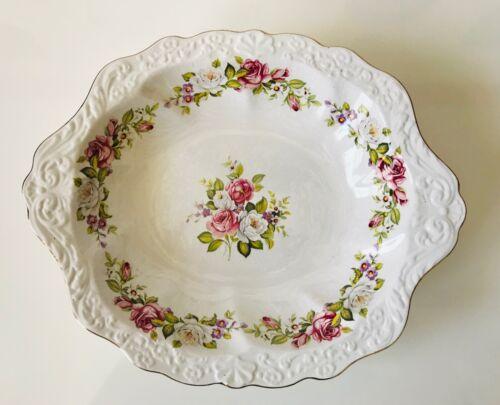 Serving Bowl Porcelain James Kent Staffordshire England Old Foley Floral Vtg