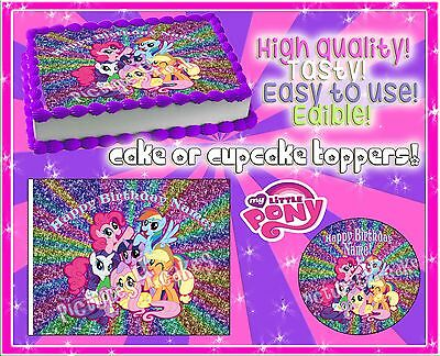 #4 My little pony Birthday cake topper Edible picture paper frosting image sugar