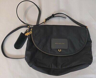 MARC BY MARC JACOBS Classic Q Natasha Black Nylon Crossbody Flap Bag