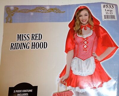 Costumes USA Miss Red Riding Hood Halloween Costume Junior Girls 11-13 - Miss Usa Halloween Costume