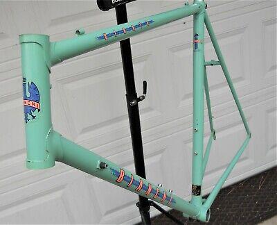 """Vintage BianchiVirataロードバイクフレームセレステグリーンスポーツ700c自転車23 """"58cm"""