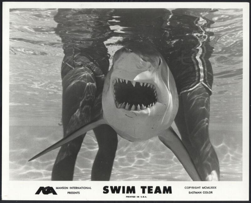 Swim Team '79 A SHARK BETWEEN TWO PAIRS OF LEGS
