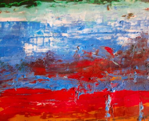 Art Painting Original Oil Abstract - $20.00