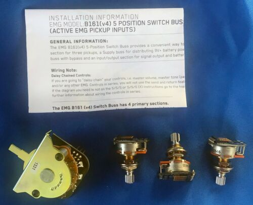 New EMG Parts Kit - 5-Way Switch with 3 Pots. Perfect for EMG Installations!!