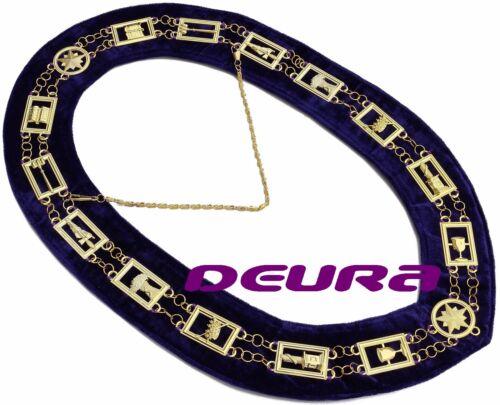 Masonic Collar OES Order of EASTERN Star PURPLE Backing DMR-900GP BEST QUALTY