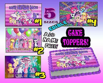 My little pony for Birthday CAKE topper Edible image SHEET icing paper frosting