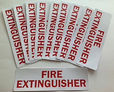 10- Fire Extinguisher Decal Stickers