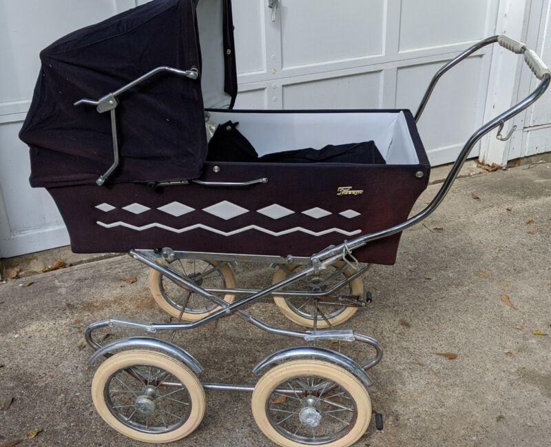Antique Vintage 1972 Giuseppe Perego Stroller Carriage combo Italian Buggy