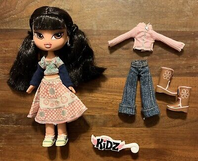 RARE Bratz Kidz Jade Doll with Extra Outfit Shoes Boots Brush Pre-Owned EUC
