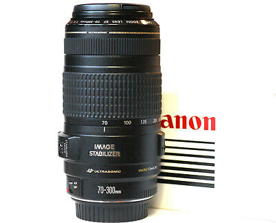 Canon EF 70-300mm f4-5.6 IS USM Zoom Lens - Filter and Instructions Included