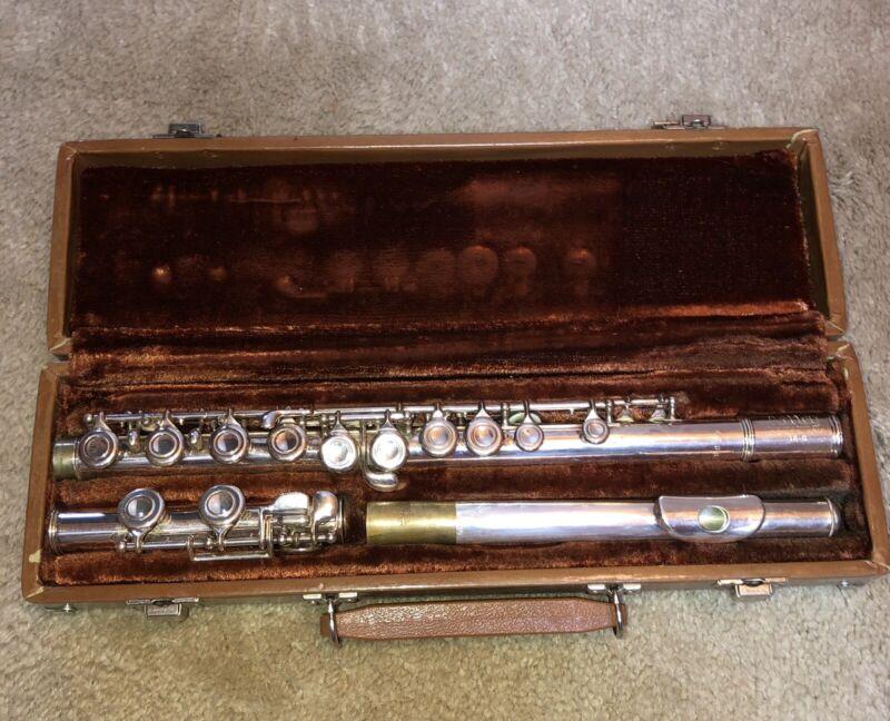 Artley Flute With Case, Nogales, Ariz 18-0 Silverplate