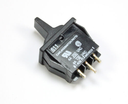 2pc Carling Momentary Paddle Switch SPDT 4A 250Vac, 8A 125Vac (ON) OFF (ON)