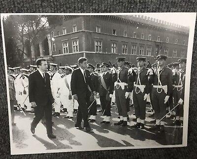 Vintage President John F Kennedy In Rome Italy Original Press Photo E19