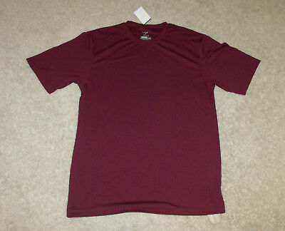 Maroon Loose Fit Shirt (Zorrel Mens Athletic/Polyester T-Shirt-Loose Fit-Maroon-Moisture Wick-Small-New!)