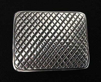 Clif Doran Sterling Silver Crosshatch Checkerboard Belt Buckle Santa Fe