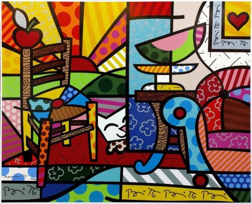 "Romero Britto ""squeak Van Britto"" | Signed Print On Gesso Board | 1 Of Only 30!"