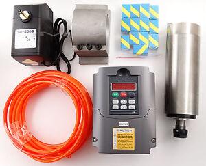 CNC 2.2KW Spindle Motor 220V+Variable Frequency Driver VDF+ ER20+Water-pump  -DE