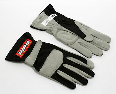 RaceQuip 351005 Large 1-Layer Black Auto Racing Driving Gloves Nomex SFI Rated Nomex Racing Gloves