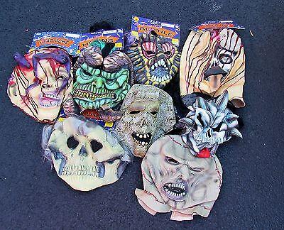 DELUXE MONSTER MASKS HALLOWEEN MUMMY,REPTILE,SKULL,HEADACHE,STAPLES ADULTS ](Halloween Monster Masks)