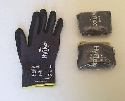 2 Brand New Pairs Of Ansell Hyflex Premium Work Gloves Size 8 Medium Free Ship