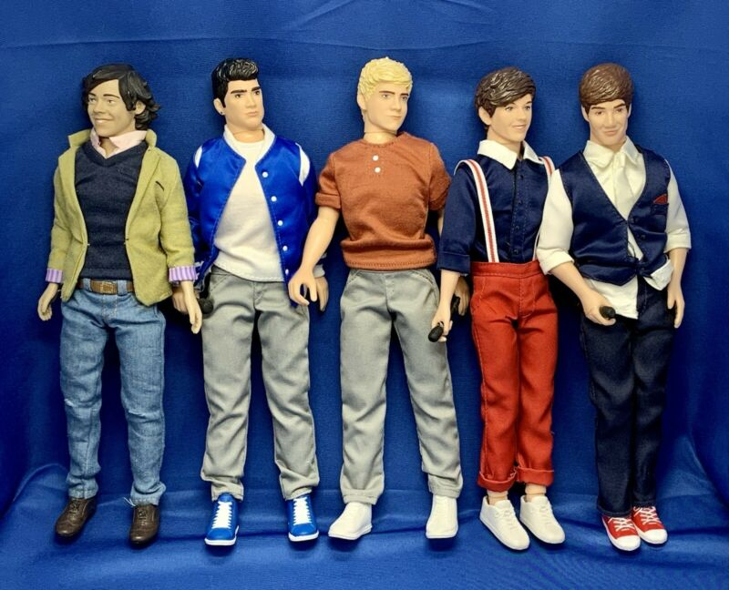 Hasbro Harry Styles One Direction 1/6 Scale 12 Inch Dolls ~  Set of 5