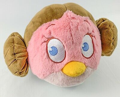 Angry Birds Star Wars Princess Leia Pink Plush - About 7 inches wide - Star Wars 7 Leia