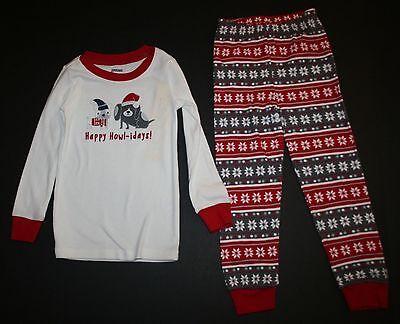 Neu Gymboree Jungen Holiday Schlafanzüge Gymmies Pyjama 4 5 6 Jahr Welpe Heulen ()