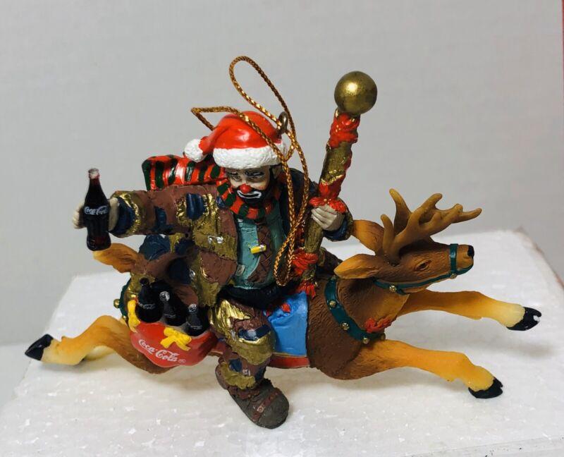 Limited Edition Coca Cola Holiday Ornaments Santas Helper Emmett Kelly NIB