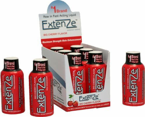 ExtenZe Cherry Shots -  6 pack of 2oz Shots NEW! NEW! NEW!