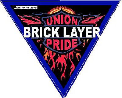 Bricklayer Union Pride On Triangle Sticker Cbl-1