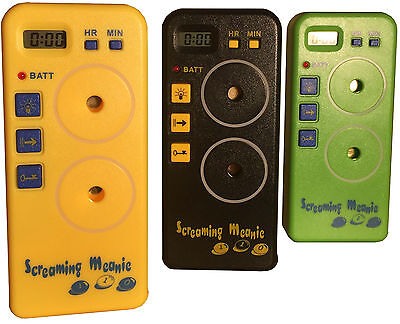Authentic Screaming Meanie TZ-120. Extra Loud Alarm Timers. Assorted Colors.