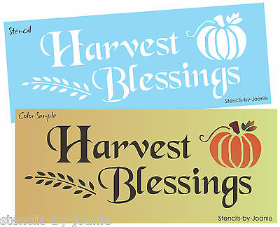Joanie Stencil Harvest Blessings Country Pumpkin Prim Fall Willow Sign U Paint