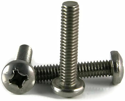 Stainless Steel Phillips Pan Head Machine Screw #10-24 x 3-1/2, Qty 25