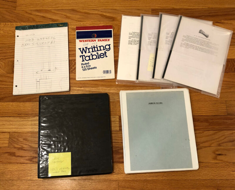 NEIL YOUNG Collection Personal Lionel Locomotive Train Test Notes Signature