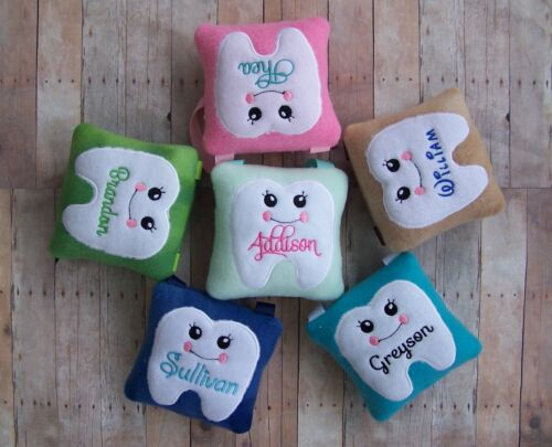 Personalized Adorable Tooth Fairy Pillow Handmade Custom Keepsake Boy Girl