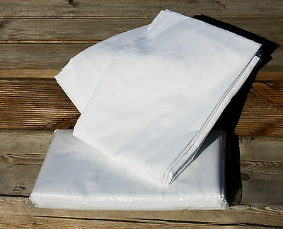 Betttuch Bettlaken 150x200 cm weiß ohne Gummizug aus 100% Baumwolle ca. 140g m²