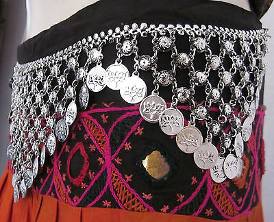Tribal Belt Belly Dance Festival Gypsy Costume Jewelry Vintage Retro Boho Style