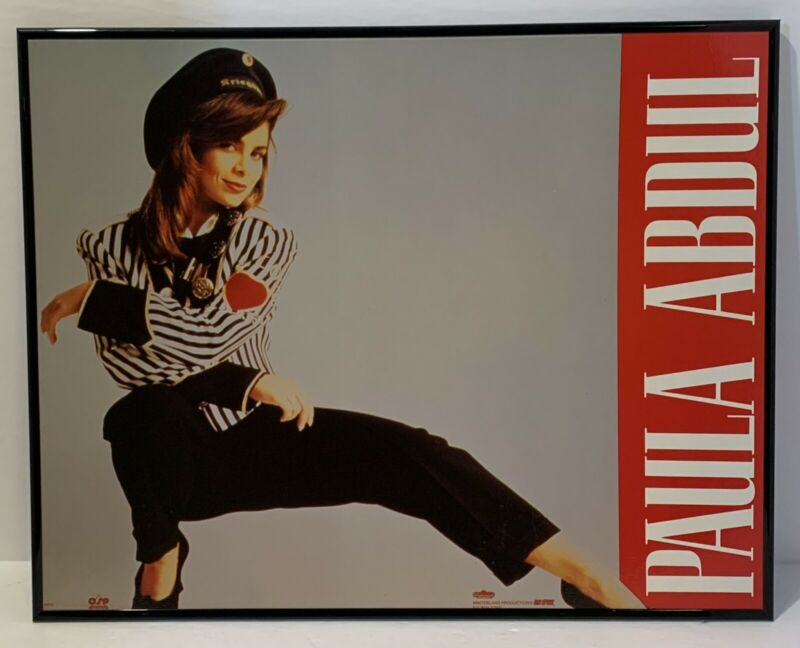Paula Abdul 1990 Wall Hanging Poster Board Winterland Original Pre-owned
