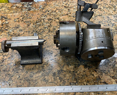 Burke 3 4 Mill Milling Machine Spin Index Chuck Tailstock M423
