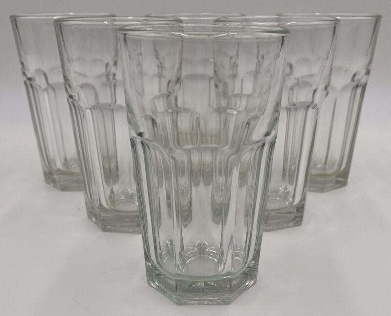 "Vintage Libbey Set of 6 Clear Duratuff Gibraltar Juice Glasses - 4 1/2"" 7oz"