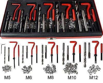 Innen Gewindereparatur M5 M6 M8 M10 M12 Gewinde Reparatursatz Werkzeug 131tlg