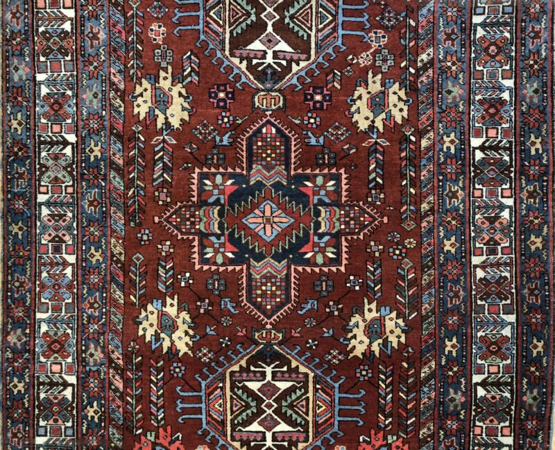Tremendous Tribal - 1900s Antique Oriental Rug - Nomadic Carpet - 4.5 X 6 Ft.